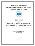 Tiểu luận Tài chính tiền tệ: Tóm lượt lý thuyết về mối quan hệ giữa lạm phát và tăng trưởng kinh tế
