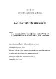 Báo cáo thực tập tốt nghiệp: Đào tạo, bồi dưỡng cán bộ công chức cấp cơ sở (xã, thị trấn) của huyện Nho Quan, tỉnh Ninh Bình
