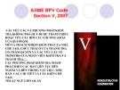Bài giảng Bài 7: ASME BPV Code Section V, 2007