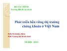 Bài giảng Phát triển bền vững tài chính chứng khoán Việt Nam - PGS.TS Đỗ Đức Minh