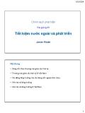 Bài giảng Chính sách phát triển: Bài 23 - James Riedel