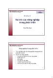 Bài giảng Chính sách phát triển: Bài 17 - Trần Tiến Khai