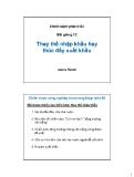 Bài giảng Chính sách phát triển: Bài 12 - James Riedel