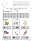Bài Kiểm tra định kỳ giữa học kỳ I mô TIếng Việt lớp 1 – Năm học 2009 – 2010