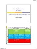 Bài giảng Kinh tế học khu vực công: Bài 27 - Huỳnh Thế Du