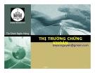 Bài giảng Thị trường chứng khoán - ĐH Nha Trang