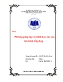 Tiểu luận: Phương pháp lập và trình bày báo cáo tài chính tổng hợp