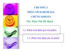 Bài giảng Phân tích chứng khoán: Chương 3 - ThS. Phan Thị Mỹ Hạnh