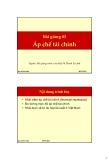 Bài giảng Tài chính phát triển: Bài 3 - Vũ Thành Tự Anh
