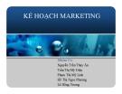 Thuyết trình: Kế hoạch marketing