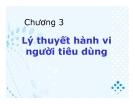 Bài giảng Kinh tế vi mô 1: Chương III - GV. Ngô Thị Thủy