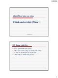 Bài giảng Kinh tế học khu vực công: Bài 8 - Vũ Thành Tự Anh