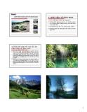 Bài giảng Nguyên lý thiết kế cảnh quan - Chương 3: Giới thiệu khái quát về cảnh quan