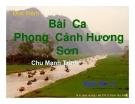 Bài giảng Ngữ văn 11 tuần 5: Đọc thêm: Bài ca phong cảnh Hương Sơn (Hương Sơn phong cảnh ca)