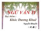 Bài giảng Ngữ văn 11 tuần 3: Đọc thêm: Khóc Dương Khuê