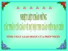 Bài giảng Toán 4 chương 2 bài 2: Tính chất giao hoán của phép nhân