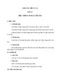 Giáo án Vật lý 12 bài 11:  Đặc trưng sinh lí của âm