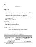 Giáo án Vật lý 12 bài 8:  Giao thoa sóng