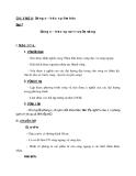 Giáo án Vật lý 12 bài 7: Sóng cơ và sự truyền sóng cơ