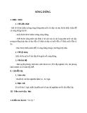 Giáo án Vật lý 12 bài 9: Sóng dừng