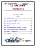Giáo trình Lập trình Android (Module 2) - Trung tâm tin học ĐH KHTN