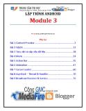 Giáo trình Lập trình Android (Module 3) - Trung tâm tin học ĐH KHTN