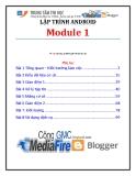Giáo trình Lập trình Android (Module 1) - Trung tâm tin học ĐH KHTN