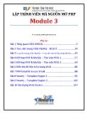 Giáo trình Lập trình viên mã nguồn mở PHP (Module 3) - Trung tâm tin học ĐH KHTN