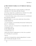 Giáo án Ngữ văn 11 tuần 7: Thực hành về nghĩa của từ trong sử dụng