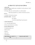 Giáo án Ngữ văn 11 tuần 8: Thao tác lập luận so sánh
