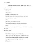 Giáo án Ngữ văn 11 tuần 13: Một số thể loại văn học: Thơ, truyện