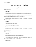 Giáo án Ngữ văn 11 tuần 11: Chữ người tử tù