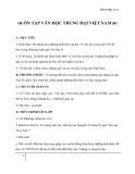Giáo án Ngữ văn 11 tuần 8: Ôn tập văn học trung đại Việt Nam