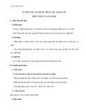 Giáo án Ngữ văn 11 tuần 11: Luyện tập vận dụng kết hợp các thao tác lập luận phân tích và so sánh