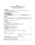 Giáo án Toán 4 chương 5 bài 1: Tìm 2 số khi biết tổng và tỉ của 2 số đó