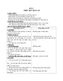 Giáo án Toán 4 chương 4 bài 2: Phép trừ phân số