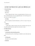 Giáo án Ngữ văn 11 tuần 28: Luyện tập thao tác lập luận bình luận