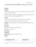 Giáo án Ngữ văn 11 tuần 32: Luyện tập vận dụng kết hợp các thao tác lập luận