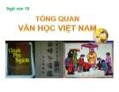 Bài giảng Ngữ văn 10 tuần 1: Tổng quan văn học Việt Nam