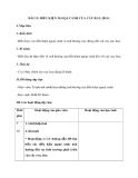 Giáo án Kỹ thuật 4 bài 11: Điều kiện ngoại cảnh của cây rau, hoa