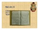Bài giảng Ngữ văn 10 tuần 13: Cảnh ngày hè