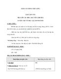Giáo án bài Tập làm văn: Trả lời câu hỏi. Đặt tên cho bài. Luyện tập về mục lục sách - Tiếng việt 2 - GV. T.Tú Linh