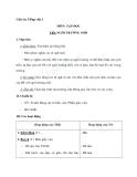 Giáo án Tiếng Việt 2 tuần 6 bài: Tập đọc - Ngôi trường mới