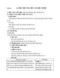 Giáo án Ngữ văn 8: Luyện tập tóm tắt văn bản tự sự