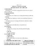 Giáo án bài 8: Lập dàn ý cho bài văn tự sự kết  hợp với miêu tả và biểu cảm - Ngữ văn 8