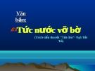 Bài giảng Tức nước vỡ bờ - Ngữ văn 8