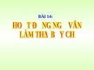 Bài 17: Hoạt động ngữ văn - Làm thơ 7 chữ - Bài giảng Ngữ văn 8
