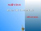 Bài giảng  Tức cảnh Pác Bó - Ngữ văn 8 - GV.Trần T.Linh