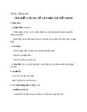 Bài 11: Tìm hiểu chung về văn bản thuyết minh - Giáo án Ngữ văn 8
