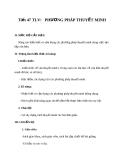 Giáo án bài 12: Phương pháp thuyết minh - Ngữ văn 8